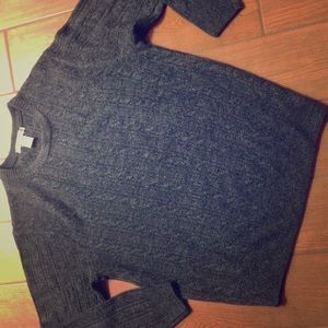 Geoffrey Beene Charcoal Gray Sweater size L